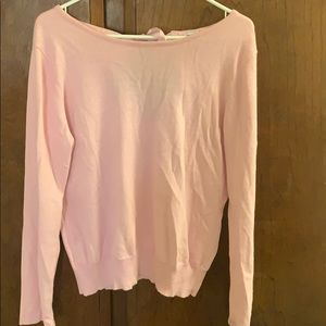 Pink Sweater w/ bow tie in back